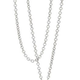 Sj1113 18Ct Wg Cable Chain 45Cm