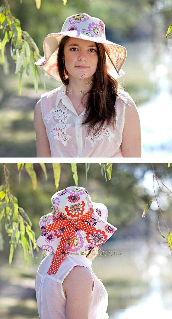 Womens Sun Hat Pattern. Spring Blooms Sunhat by AngelLeaDesigns