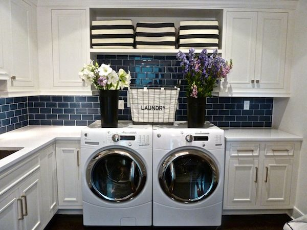 LAUNDRY ROOM – Another great design idea for a well-functioning laundry room. Kensett Piper House laundry room.