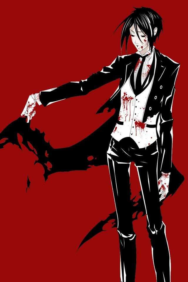 """Black Butler- Sebastian Michealis """"now my clothes are full of holes."""""""