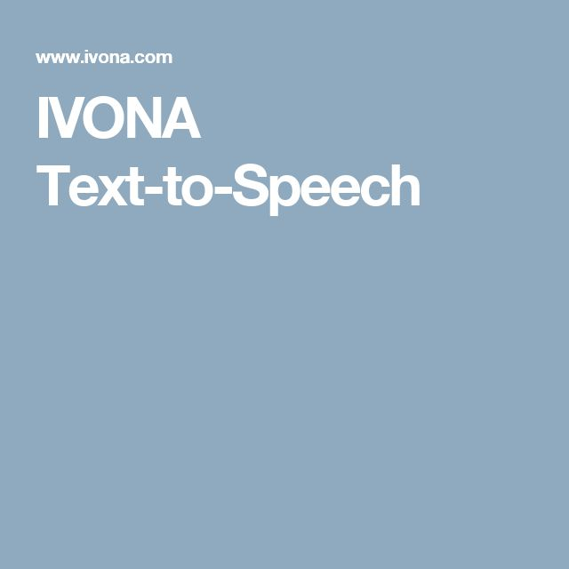 IVONA Text-to-Speech