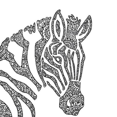 507 best coloring horse, zebra images on Pinterest | Coloring ...