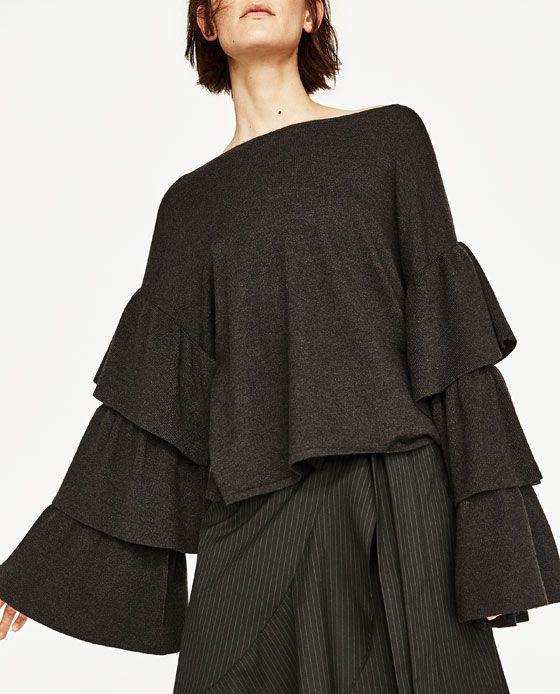 ZARA - COLLECTION SS/17 - SOFT SWEATER WITH FRILLED SLEEVES