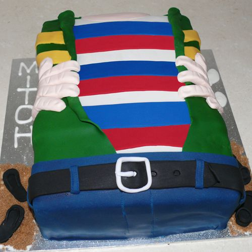 This fantastic gluten free / lactose free cake is a great way to symbolize a change in someone's life, or revealing one self, or simply 2 different loves or personality traits.  The cake is covered in delicious fondant.  Choose the persona that is to be revealed. Order today at:www.glutenfreecakenation.com.au