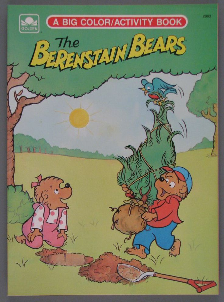 the berenstain bears big coloractivity coloring book 1980 golden books - Berenstain Bears Coloring Book