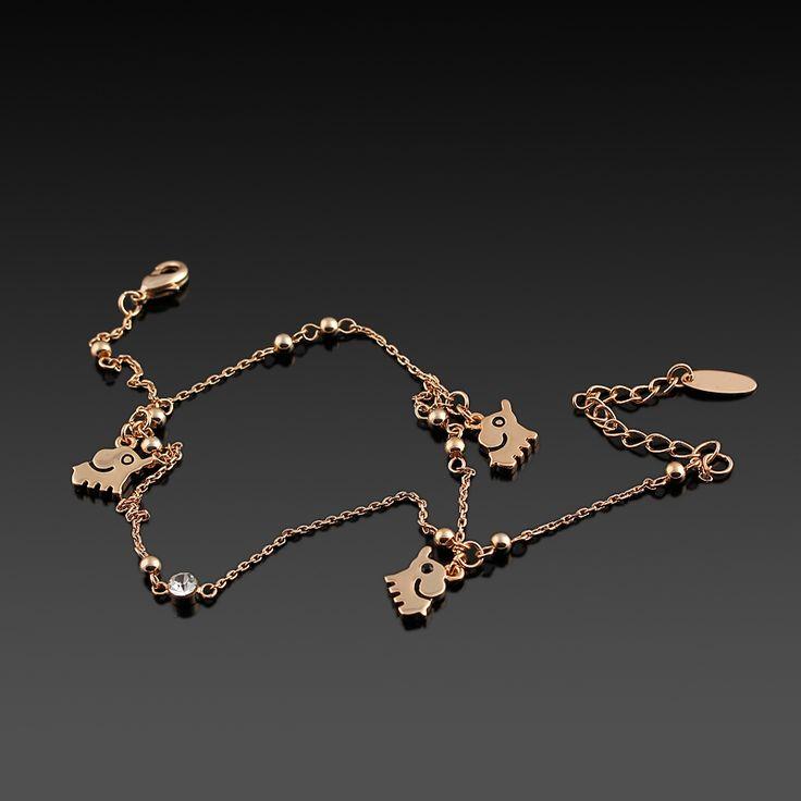 Palmira Halhal - Altın kaplama - Aksesuar - Halhal - Dalya Takı - Gold plated - Rose gold - Accessory - Anklet - Elephant
