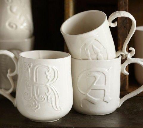 Alphabet Mugs - White
