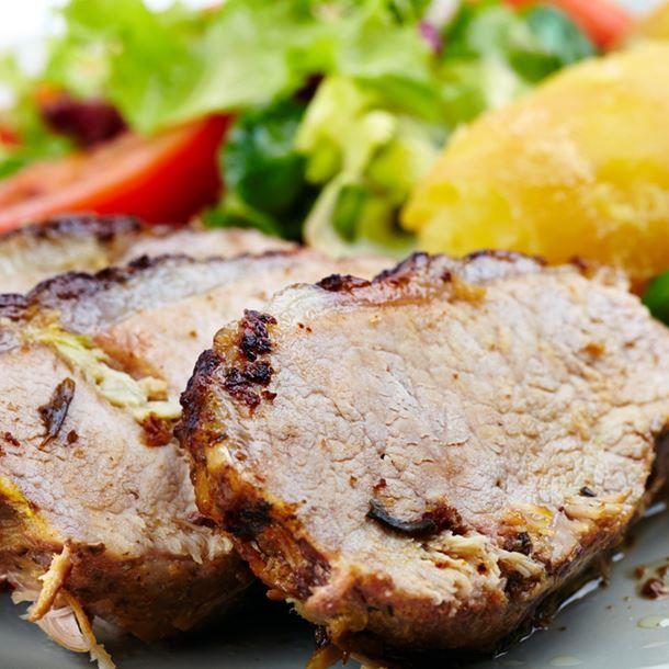 Roti de porc et pommes de terre au Cookeo