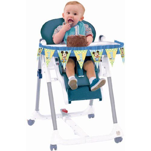 Baby Mickey Mouse 1st Birthday High Chair Decorating Kit Disney