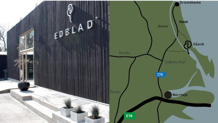 """Edblad's largest store, which showcases the real brand experience, is located in the """"middle of nowhere"""", in the small village of Gåsvik close to Väddö Kanal. The 500 m2 store houses the entire Edblads collection, new products, outlet items and unique products, as well as our fabulous restaurant serving local food in season. You can follow Edblad in Gåsvik on Facebook and easily keep up with the many happenings throughout the year."""