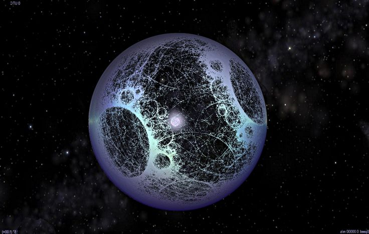 A Fractal Dyson Sphere under construction by Steve Bowers.  A Dyson Sphere is a Hypothetical Megastructure, fully enclosing a star, originally described by scientist Freeman Dyson in 1960.
