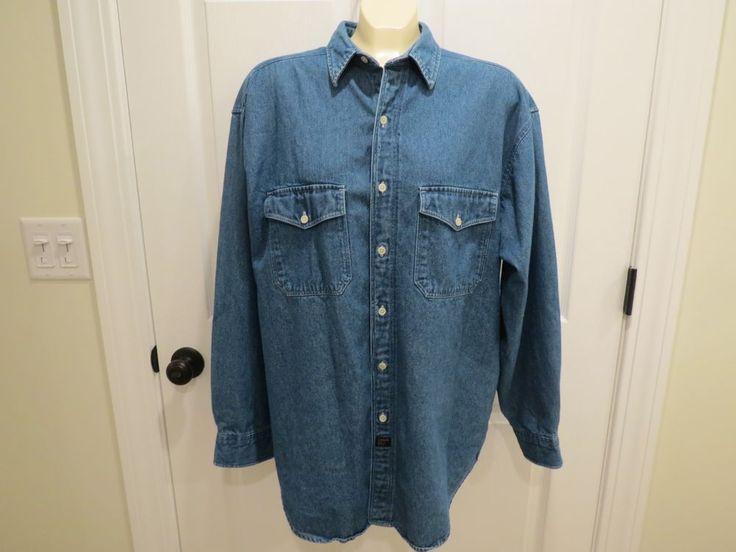 The Arrow Company Blue Denim Button Down Shirt Size Large #TheArrowCompany #ButtonFront