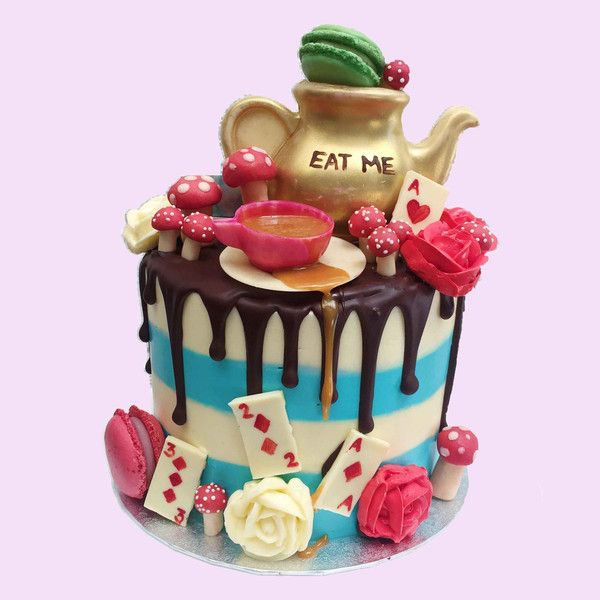 The all new Alice in Wonderland Cake by Anges de Sucre #birthdaycake