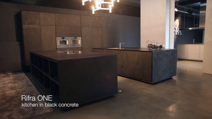 RIFRA Kitchen ONE, in black concrete www.rifra.com