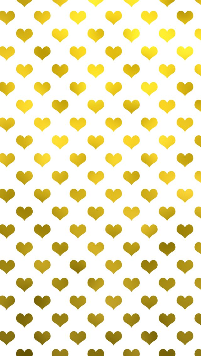 Free Gold Hearts Valentine's Day iPhone Wallpaper