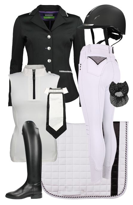 Competition set black-white #competition #summer17 #horsefashion #epplejeck