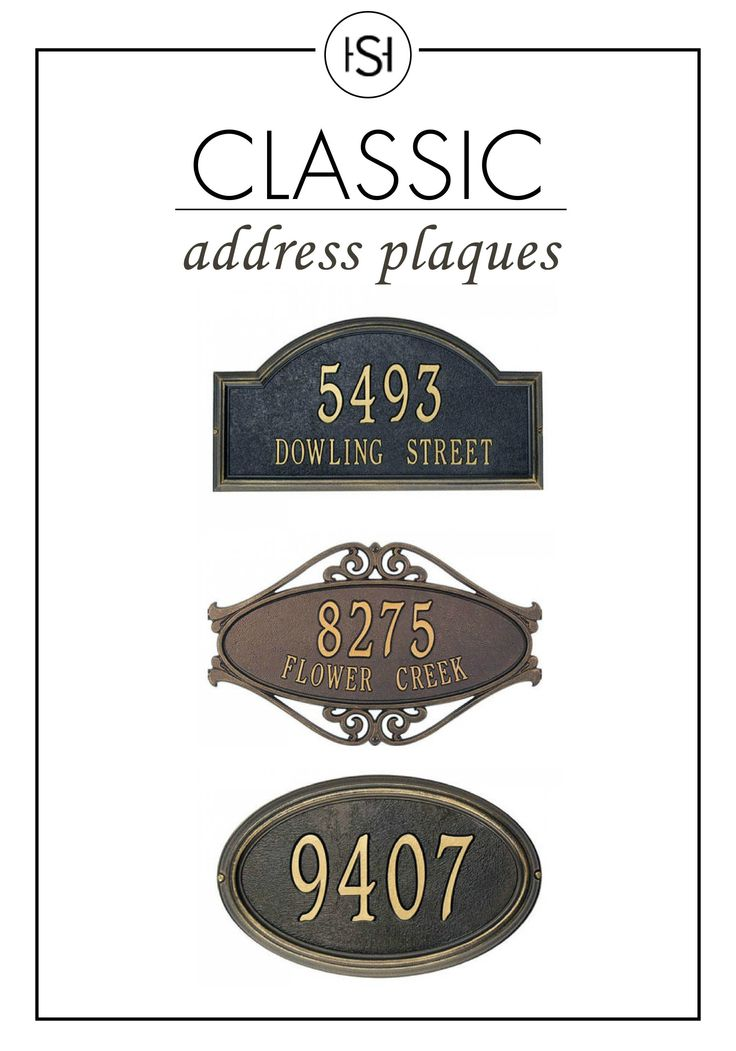 224 best images about grand entrances on pinterest door for Classic house number plaque