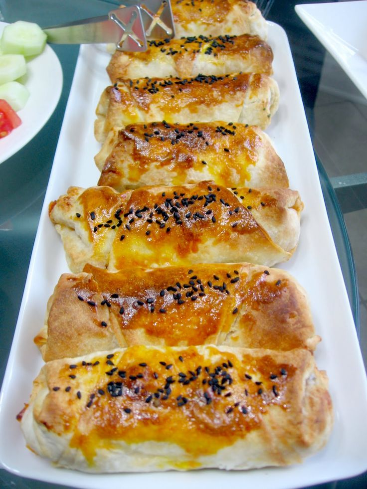 BOREK WITH POTATO FILLING   Makes 14 boreks.   Ingredients:  Turkish triangular fillo   3 large size of potatoes  1 small size onion (ch...