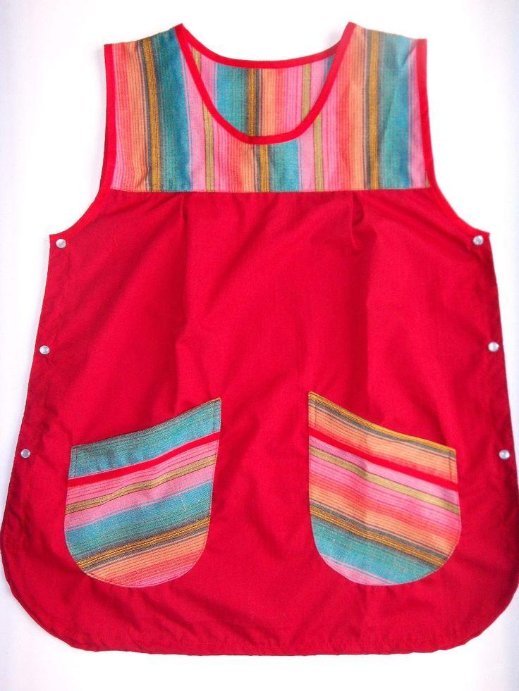Guardapolvos Docentes Diseño A Elección Colores Aguayo - $ 450,00 en MercadoLibre