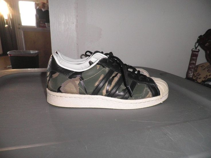 "Boys CLOT X Adidas Superstar 80S 84-Lab ""Camo""  Size 5 #adidas #Superstars"