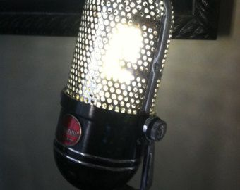Vintage Shure 55 Microphone Lamp by VintageAmbientLight on Etsy