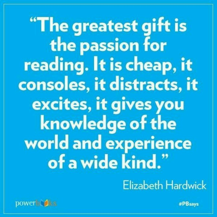 Elizabeth Hardwick about the passion for reading