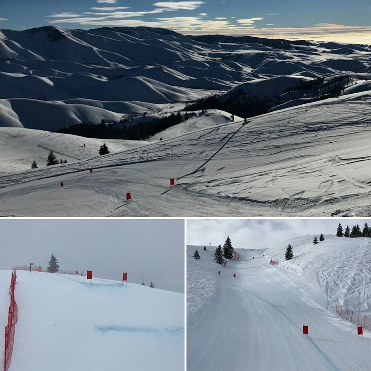 Soldier Mountain pics of training day skies compared to today's mostly sunny skies.  #skiracing #ussa #USST #downhill #masters #soldiermountain #idaho #ski #snow #