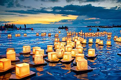 ❀ ALLERZIELEN ❀ All Souls Day ~ Share the Light, Spread Love, Celebrate Life! ♥ #floating #lanterns #candles