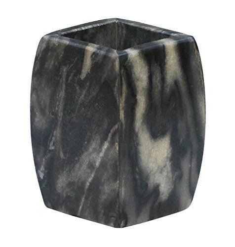 "#SouvNear 4"" #Handmade #Bath #Ensemble #Stone #Art #Utensil #Toothbrush & #Toothpaste #Holder - #Natural #Gray-Black #Marble #Stone #Tumbler - #Unique #Solid Black #Bathroom Accessories - #ToothbrushCase / #Stand / #Kitchen Sink / #Shower #Bath #Tub SouvNear http://www.amazon.com/dp/B00UFQEUUK/ref=cm_sw_r_pi_dp_Un5cwb1ZW80GE"