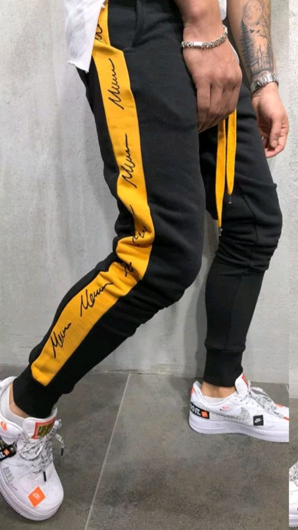 702dde6962d8b Mens+signature+side+strip+joggers+designer.+Stylish+joggers+to+wear+anywhere+while+being+comfy.+Sizes+S-2XL+available.+7-15+day+ shipping+in+usa.+