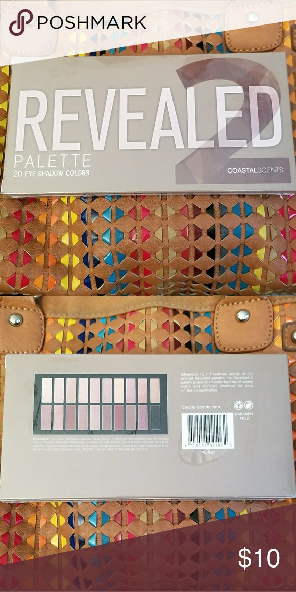 NIB Coastal Scents Revealed 2 NIB Unopened, still in plastic: Coastal Scents Revealed Two, 20 pan eyeshadow palette. Neutral color palette, excellent quality for the price. Great for beginners, testing the waters, or figuring out what colors you like. Coastal Scents Makeup Eyeshadow
