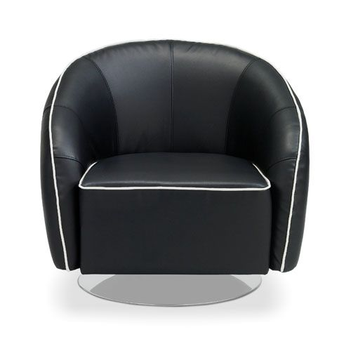 Shop Michael Swivel Chair   Black And Other Modern And Contemporary Home  And Office Furniture. Browse Our Selection Of Lounge Chairs From Zuri  Furniture.
