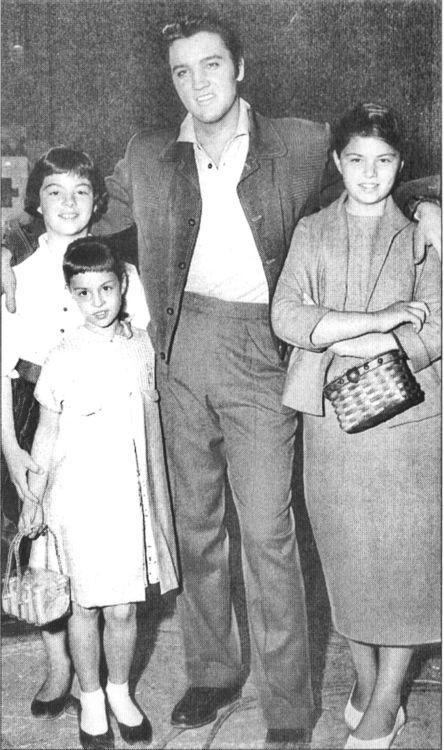 Elvis Presley with Dean Martin's daughters