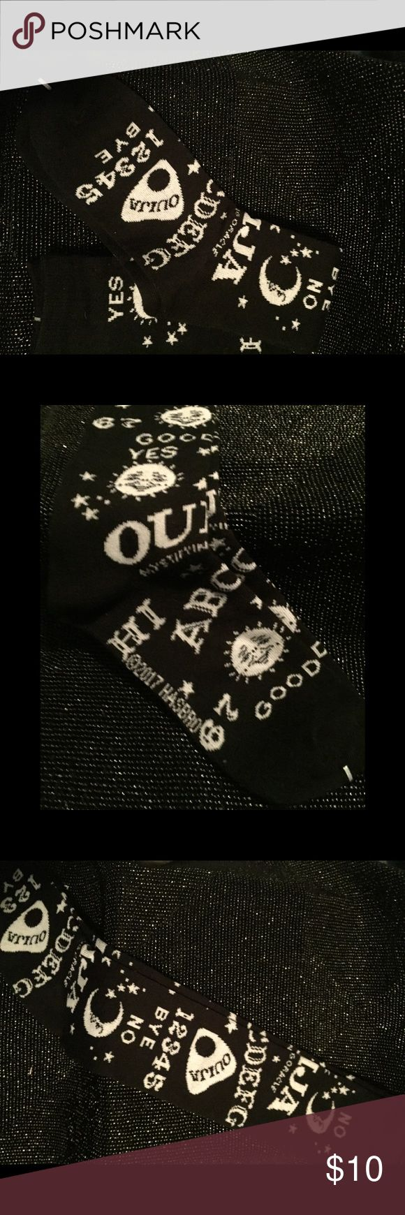 Cult Of Personality, Ouija X-Long Socks, NWT Cult Of Personality, Ouija X-Long Socks, NWT  These Socks Are Black & White  And Feature An All Over Ouija Print.  They Are Extra Long & Fit Over The Calf.  They Are Available In Men's & Women's Size Women's Fits Sizes 5 - 10 Men's Fits Sizes 7 - 12  Fabrication: 95% Cotton, 5% Spandex New With Tags. They Arrive Sealed  In The Manufacturer's Cellophane Packaging. Emporiama Accessories Hosiery & Socks