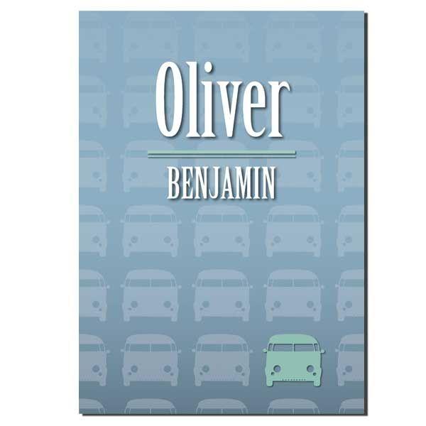 Geboortekaartje retro auto | Oliver
