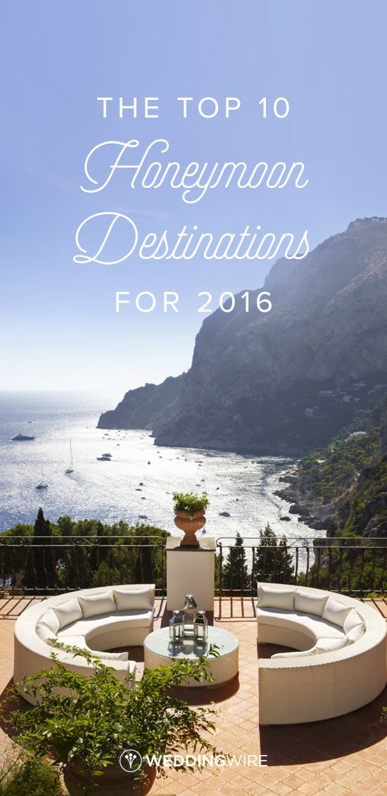 The Top 16 Honeymoon Destinations for 2016 - travel experts share the top honeymoon destination ideas on @weddingwire!