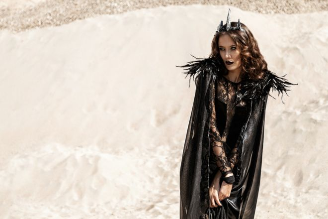 Dark Queen Ravenna Dress & Cloak, Snow-White & the Huntsman