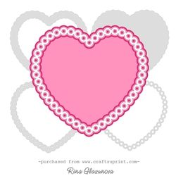 Scalloped framed heart on Craftsuprint - View Now!