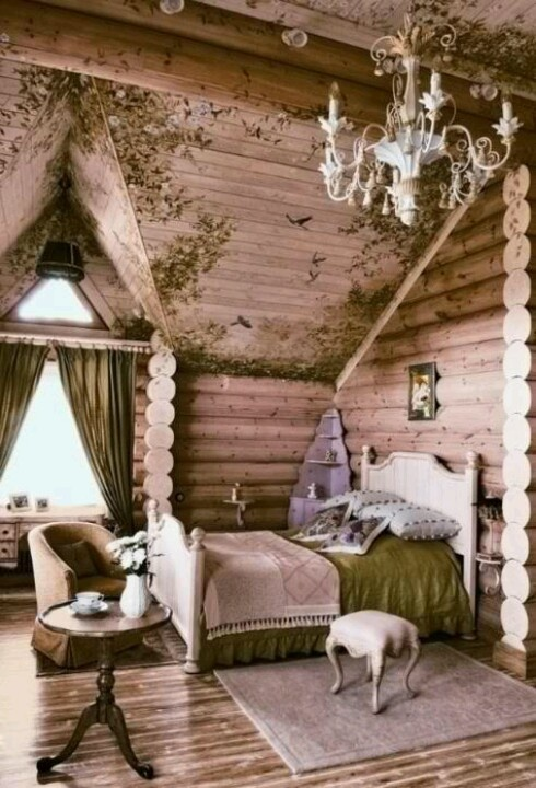 Fantasy Bedroom Cabins Cottages Homes Pinterest