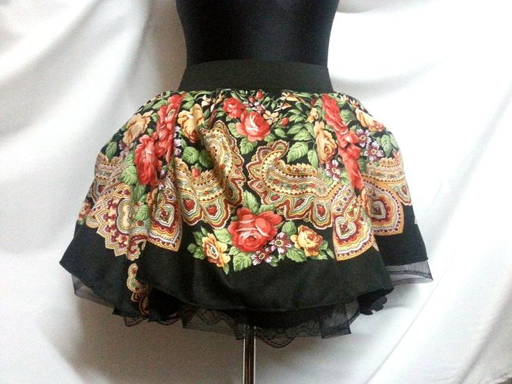 Slavic skirt with folk motive, lovely gift for every woman