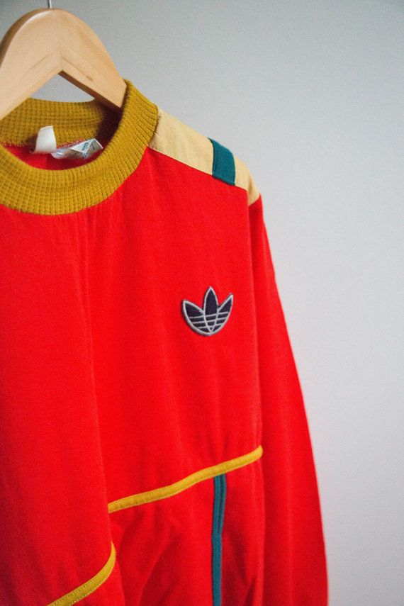 1973 Rare Vintage Adidas Sweat-shirt Made In France by EuroCrisis