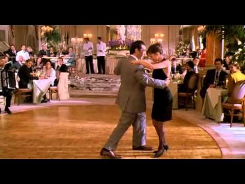 "Al Pacino as a blind man, dancing the Tango - from ""Scent of a Woman"" (1992). One of the best movies and best acted movie scenes in a long time. Pacino won an Oscar for this film - well deserved!"