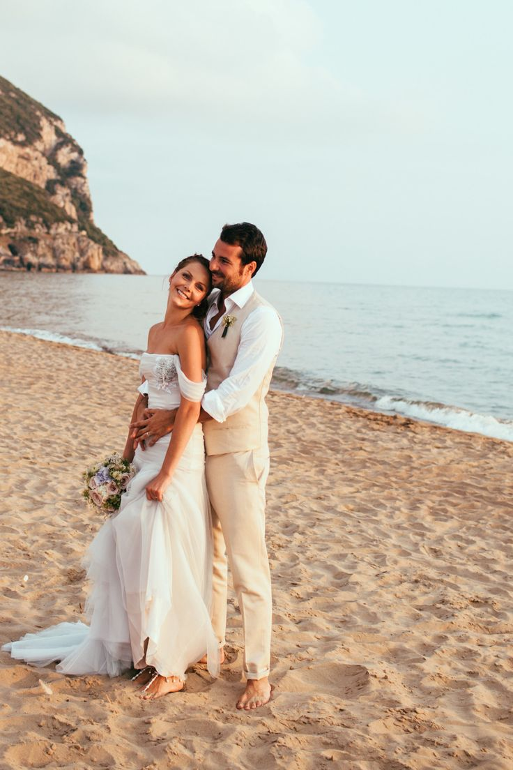 Italian Beach Wedding -- Wedding Gown: Le spose di Gio  -- See more here: http://www.StyleMePretty.com/destination-weddings/2014/04/08/a-seaside-italian-wedding/ Photography: Peggy Picot of Maison Pestea - www.maisonpestea.com