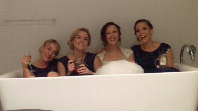 Bathtub bridesmaids