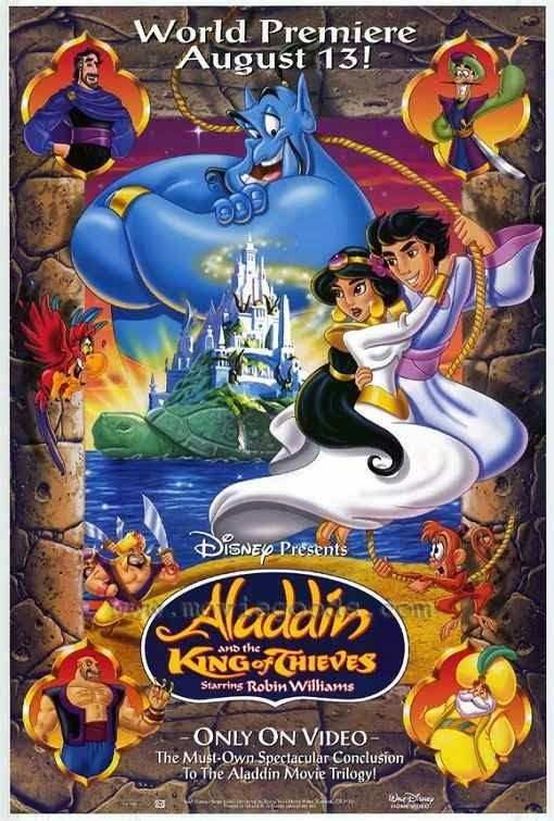 Poster Of Aladdin and the King of Thieves (1996) Full Movie Hindi Dubbed Free Download Watch Online At Alldownloads4u.Com