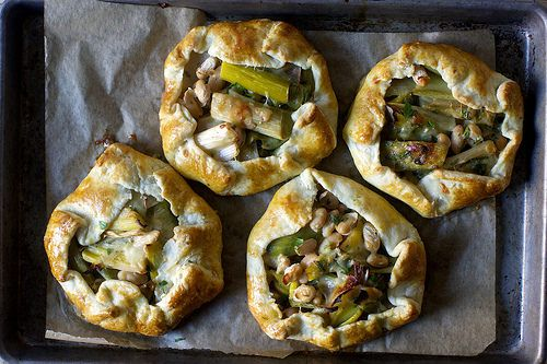 Roasted Leek and White Bean Galettes (I added in a bit of fresh fennel, as well)