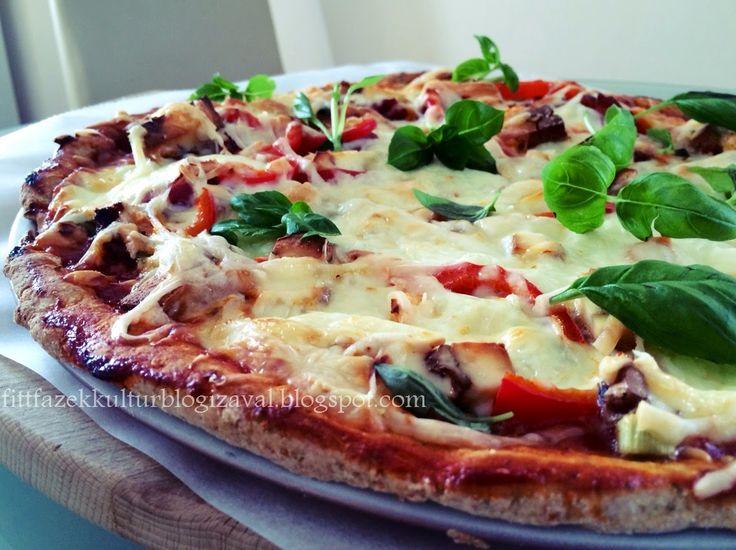 Gyors, egészséges túrós pizza, kelesztés nélkül.