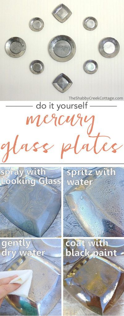 Mercury Glass Plates - DIY idea using thrift store plates