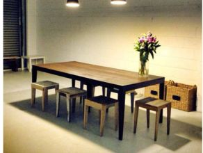 dining table with stools