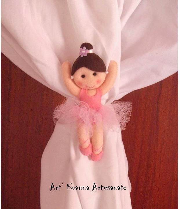 linda bailarina prendedor de cortina